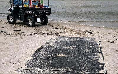 Imgex-EASY als Erweiterung eines Radwegs am Strand